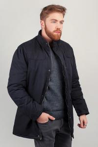 Фото  Куртка мужская теплая на меху №225KF095 (Черный)