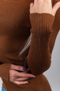 Фото  Джемпер женский трикотажный 329K001 (Светло-коричневый)