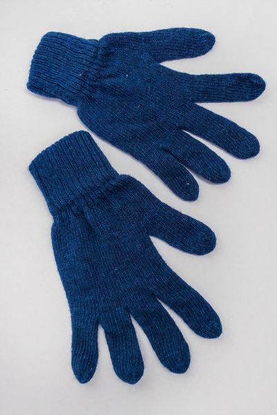 Перчатки теплые вязаные №261F005 (Синий)