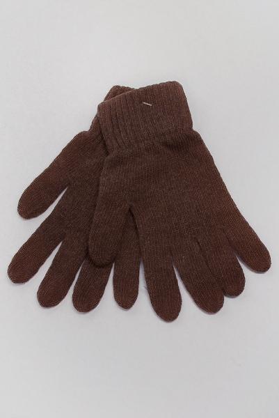 Перчатки теплые вязаные №261F005 (Коричневый)