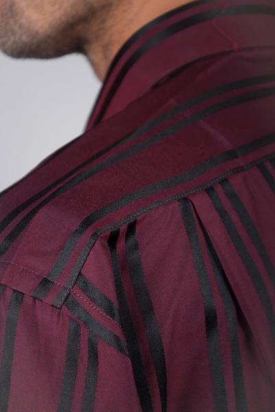Рубашка Fra №8688-9 (Бордово-черный)