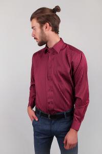 Фото  Рубашка бордовая мужская Fra №714-1 (Бордо)