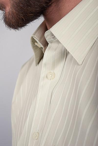 Рубашка классическая светлая Fra №871-4 (Светло-оливковый)