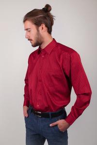 Фото  Рубашка классическая красная Fra №878-10 (Красный)