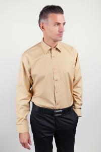 Фото  Рубашка атласная светлая, классическая Fra №878-39 (Песочный)