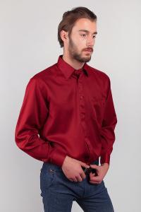 Фото  Рубашка бордовая нарядная Fra №878-46 (Бордо)