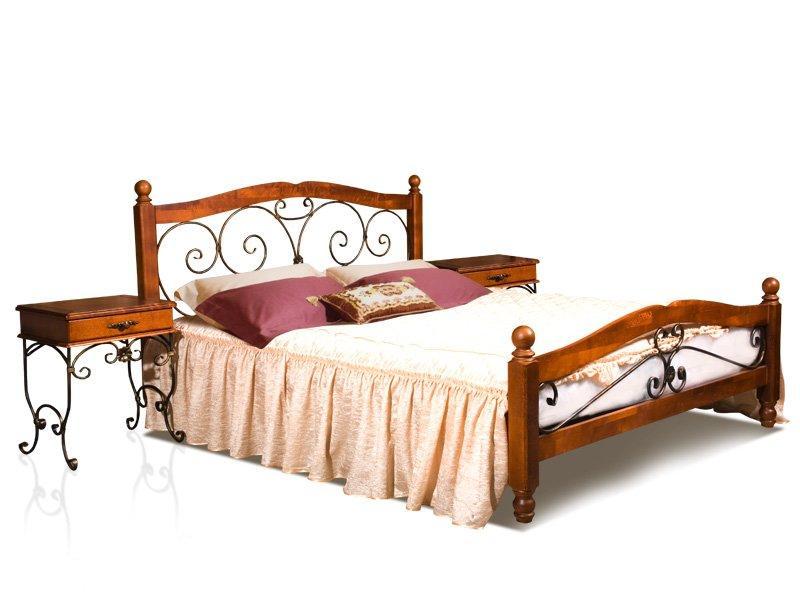 Кровать и тумба прикроватная