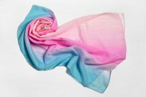 Фото Шарфы Шарф Меланья переход розовый