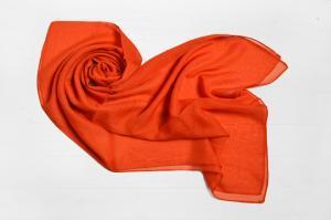 Фото Шарфы Шарф Меланья однотонный оранжевый