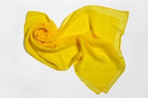 Фото Шарфы Шарф Меланья однотонный желтый