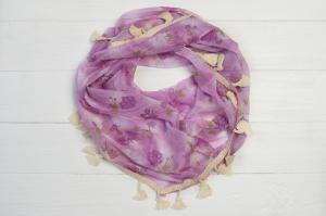 Фото Платки Косынка Вкусняшка розы лиловый
