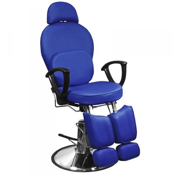 Кресло педикюрное Эконом синее