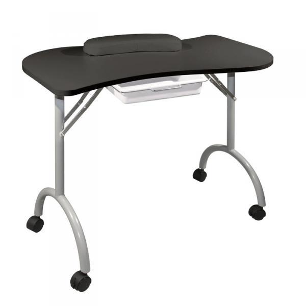 Стол для маникюра складной Wave черный