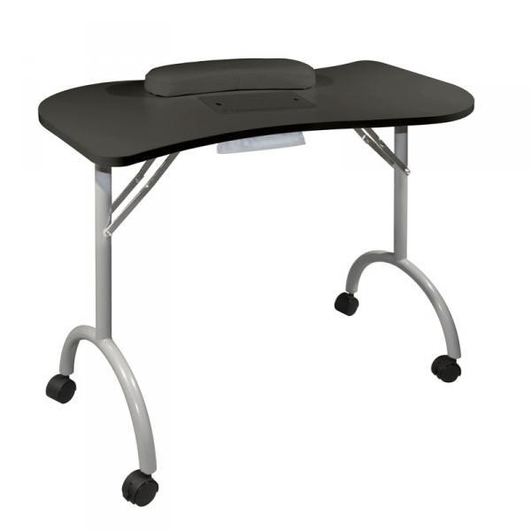 Стол для маникюра складной с пылесосом Wave Plus черн