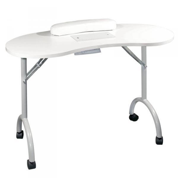 Стол для маникюра складной с пылесосом Simple Plus белый