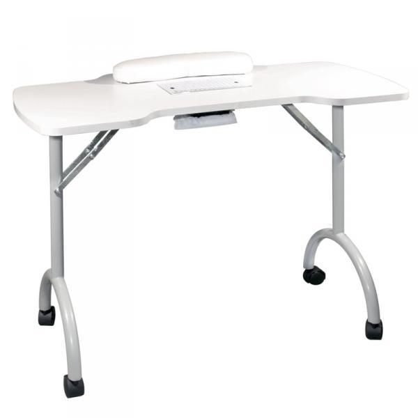 Стол для маникюра складной с пылесосом Space Plus бел