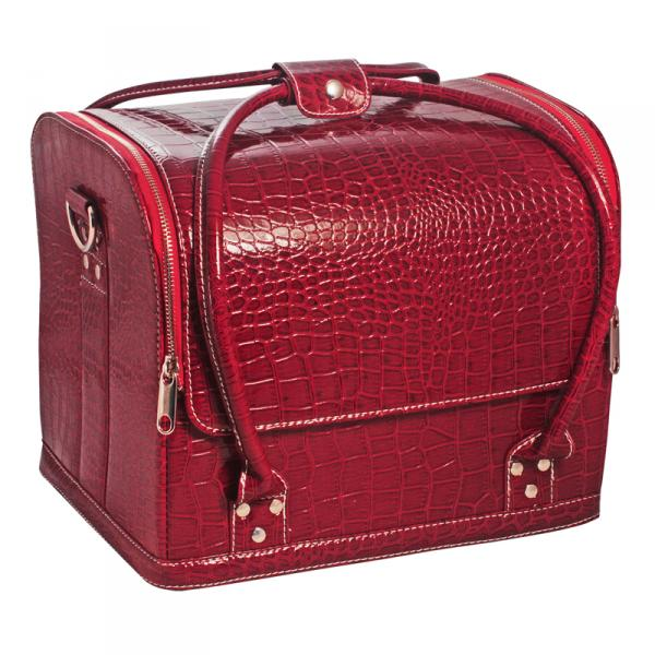 Сумка-чемодан бордовая Crocodile