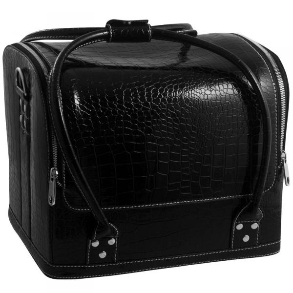 Сумка-чемодан черная Crocodile