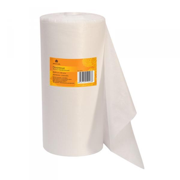 Полотенце 45*90 см белое (100шт в рул)