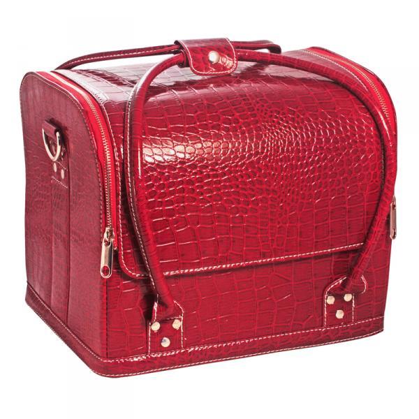 Сумка-чемодан красная Crocodile