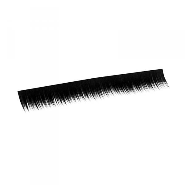 Ресницы на полосках черные, соболь 6 мм, 10 пол.