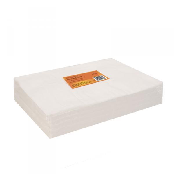 Салфетка одноразовая 30*40 см белая (100шт в пачке)