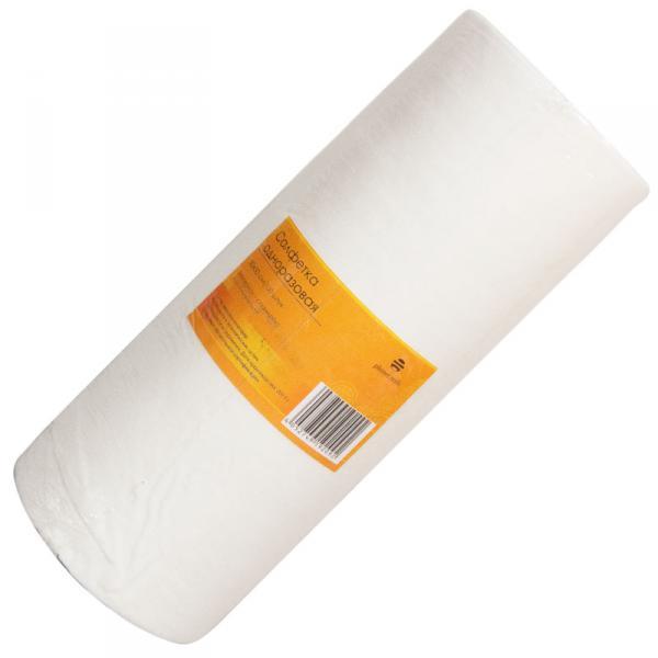 Салфетка одноразовая 30*30 см белая (100шт в рул)