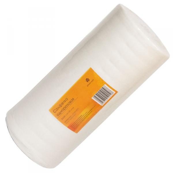 Салфетка одноразовая 30*40 см белая (100шт в рул)