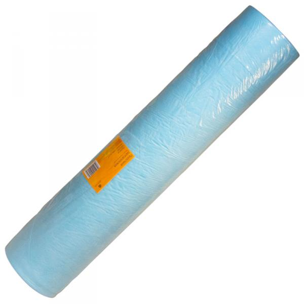 Простыня одноразовая голубая 70*200см(100шт в рул)