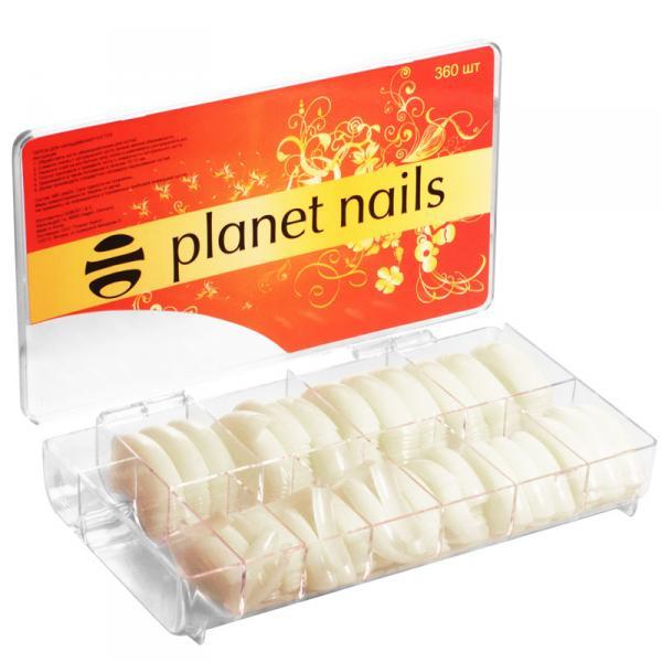 Типсы Американка Planet Nails 360 шт/уп №1-10