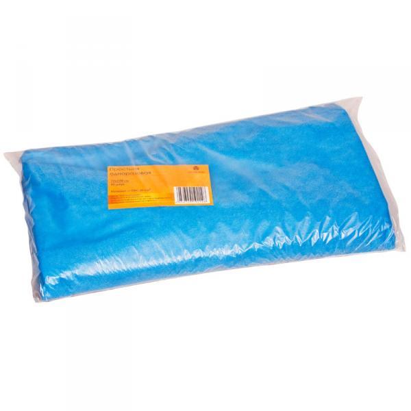 Простыня одноразовая голубая 70*200см (10шт в пач)
