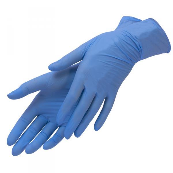 Перчатки нитриловые, M, 100шт/уп