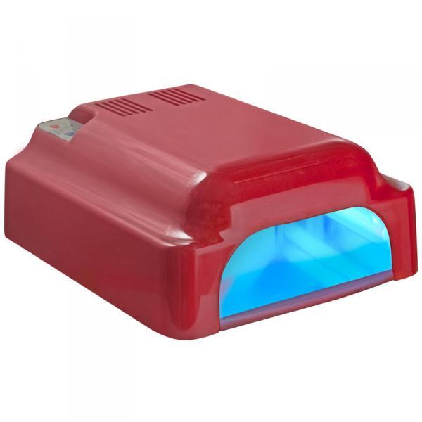 УФ лампа 36W ASN Profi с вентилятором красная