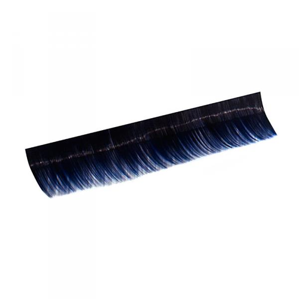 Ресницы на полосках синие, соболь 8 мм, 10 пол