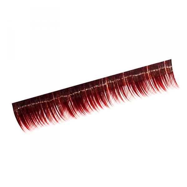 Ресницы на полосках красные, соболь 8 мм, 10 пол.