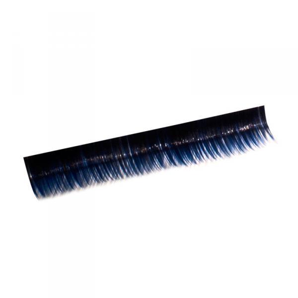 Ресницы на полосках синие, соболь 6 мм, 10 пол