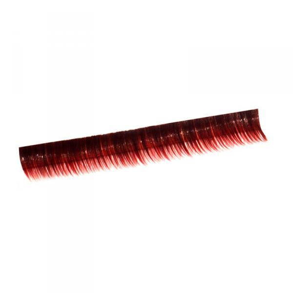 Ресницы на полосках красные, соболь 6 мм, 10 пол.
