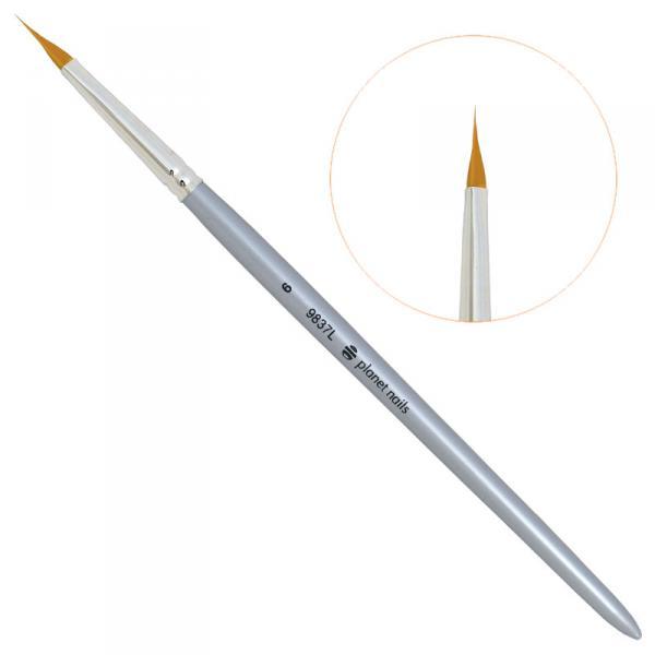 Кисть Planet Nails для дизайна треугольная № 6