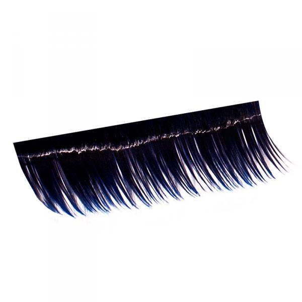 Ресницы на полосках синие, соболь 15 мм, 10 пол.