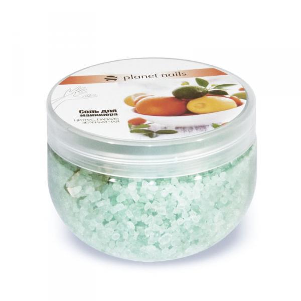 Соль для маникюра Planet Nails Цитрус и зеленый чай 350гр