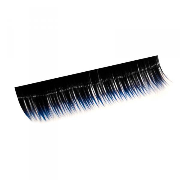 Ресницы на полосках синие, соболь 10 мм, 10 пол