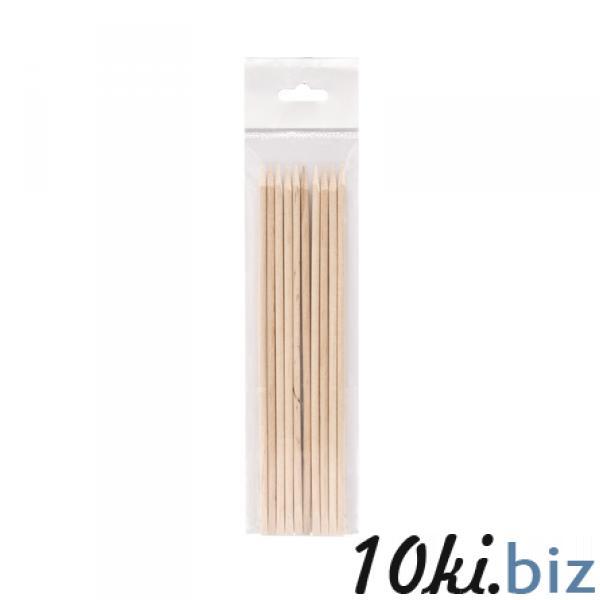 Палочка маникюрная деревянная 18 см, 10 шт/уп Материалы и приспособления для маникюра, педикюра и ногтевого дизайна в России