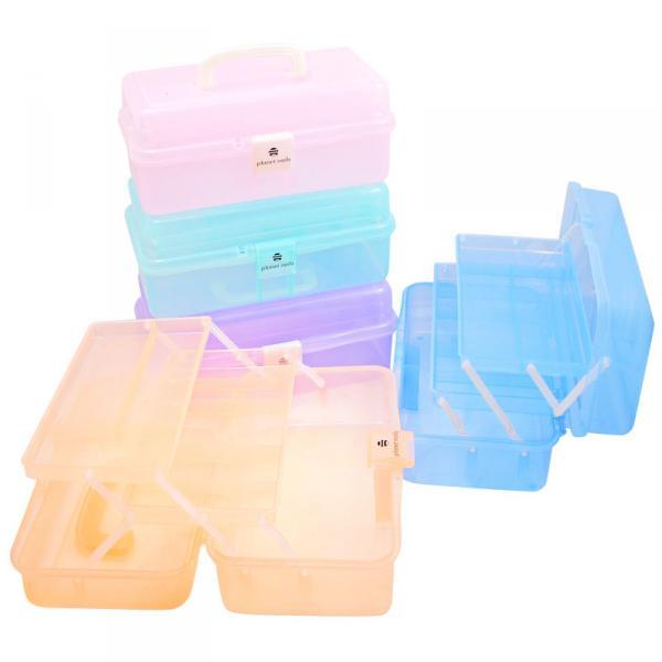 Чемодан пластиковый средний 330х200х148мм.