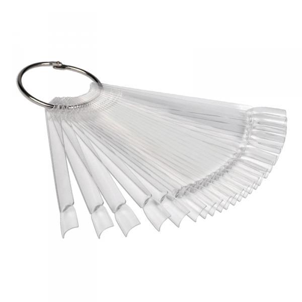 Палитра для лаков веер, прозрачная 24 шт