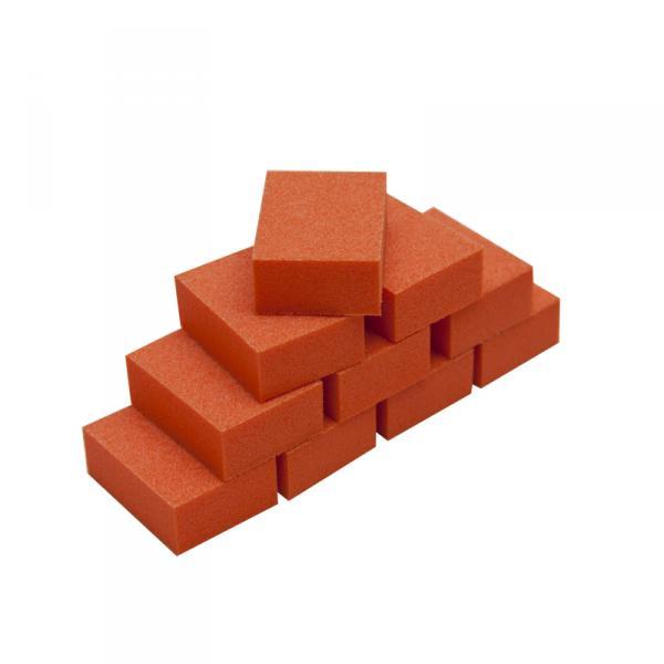 Мини баф для ногтей зауженный оранжевый 10шт/уп