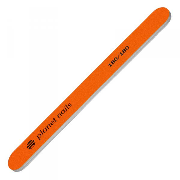 Пилка для ногтей стандартная неоново-оранжевая 180/180