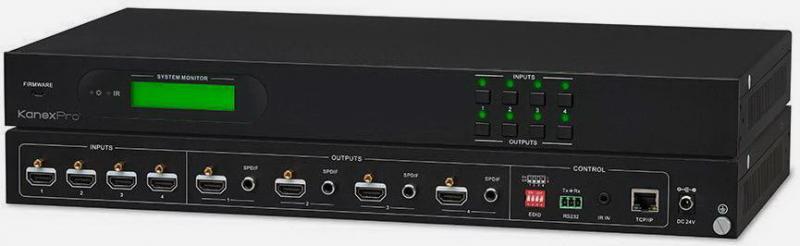 KanexPro HDMX44-18G Матричний комутатор 4х4 2.0 HDMI