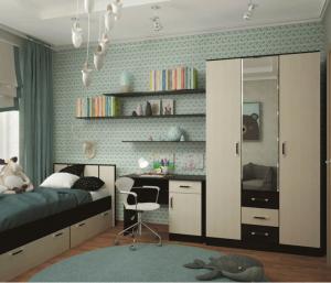 Модульная спальня Ронда (комплектация 6)