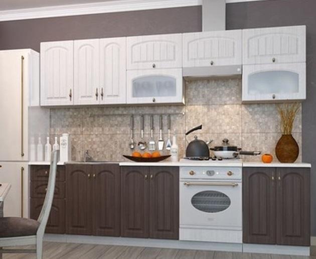 Фото Кухни модульные Кухня Монако Сандал/Бразильский Орех (ДСВ)