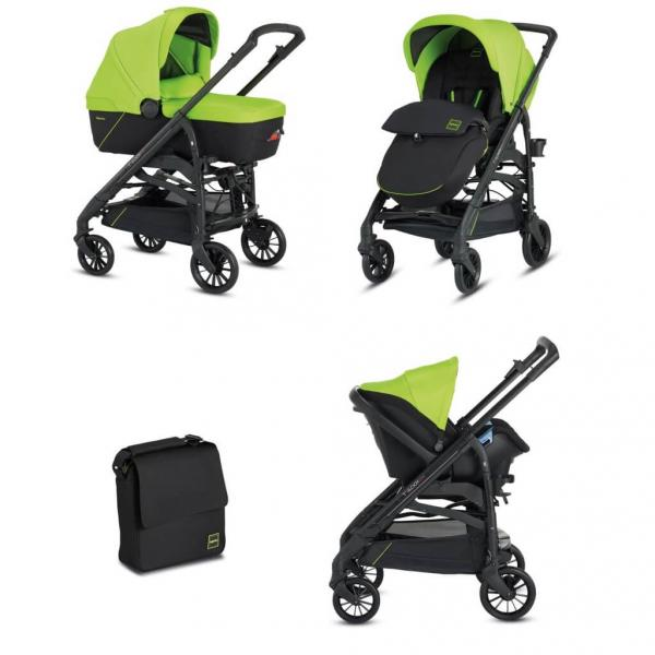 Коляска Inglesina 3 в 1 Trilogy System Colors на шасси Trilogy City Black